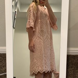 roolee pink detailed dress